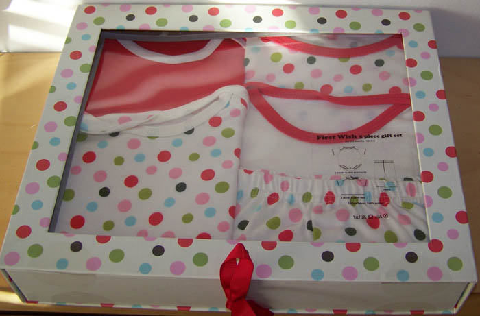 Brand New Boxed Baby Girls First Wish 5 Piece Clothing