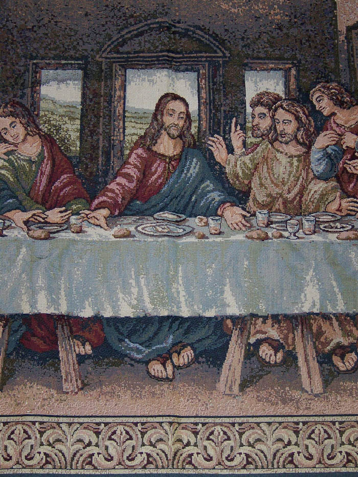 inthelast_leonardo da vinci the last supper tapestry - made in italy 140cm